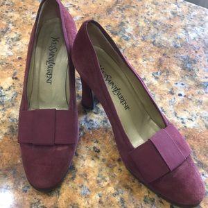 Yves Saint Laurent Burgundy/wine shoes